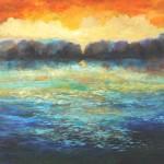 Sunset at the Lake 40x40