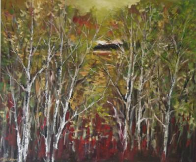 Through the Trees 30 x 36