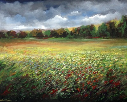 Among the Wildflowers 24 x 30