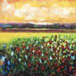 Colours of a Summer Garden, 60 x 60 copy