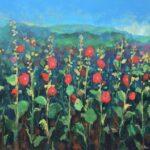 Holly Hock Garden 60 x 72 copy